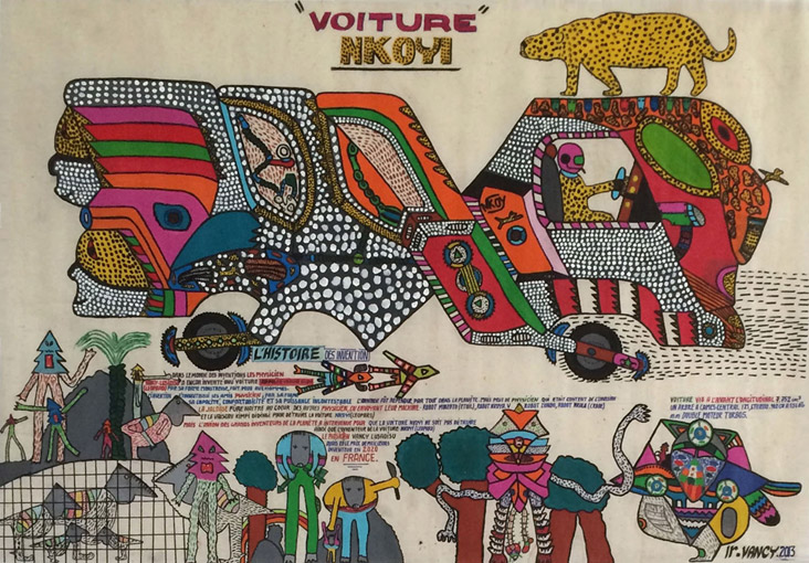 <strong>Voiture Nkoyi</strong> <br/> Acrylic on canvas / 90 x 130cm / 2013